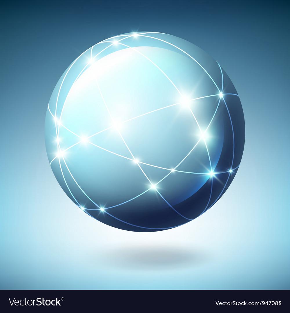 Globe icon with satellites