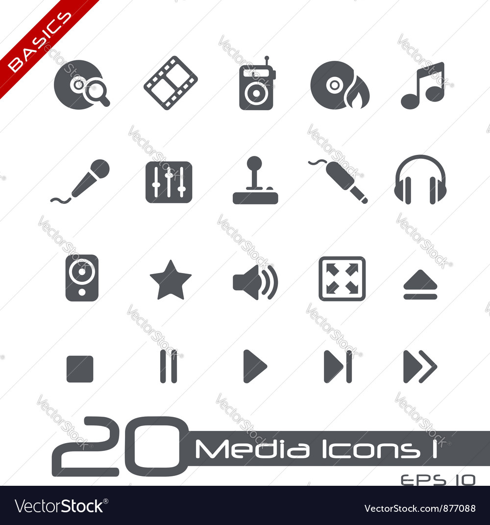 Media Entertainment Basics Series vector image