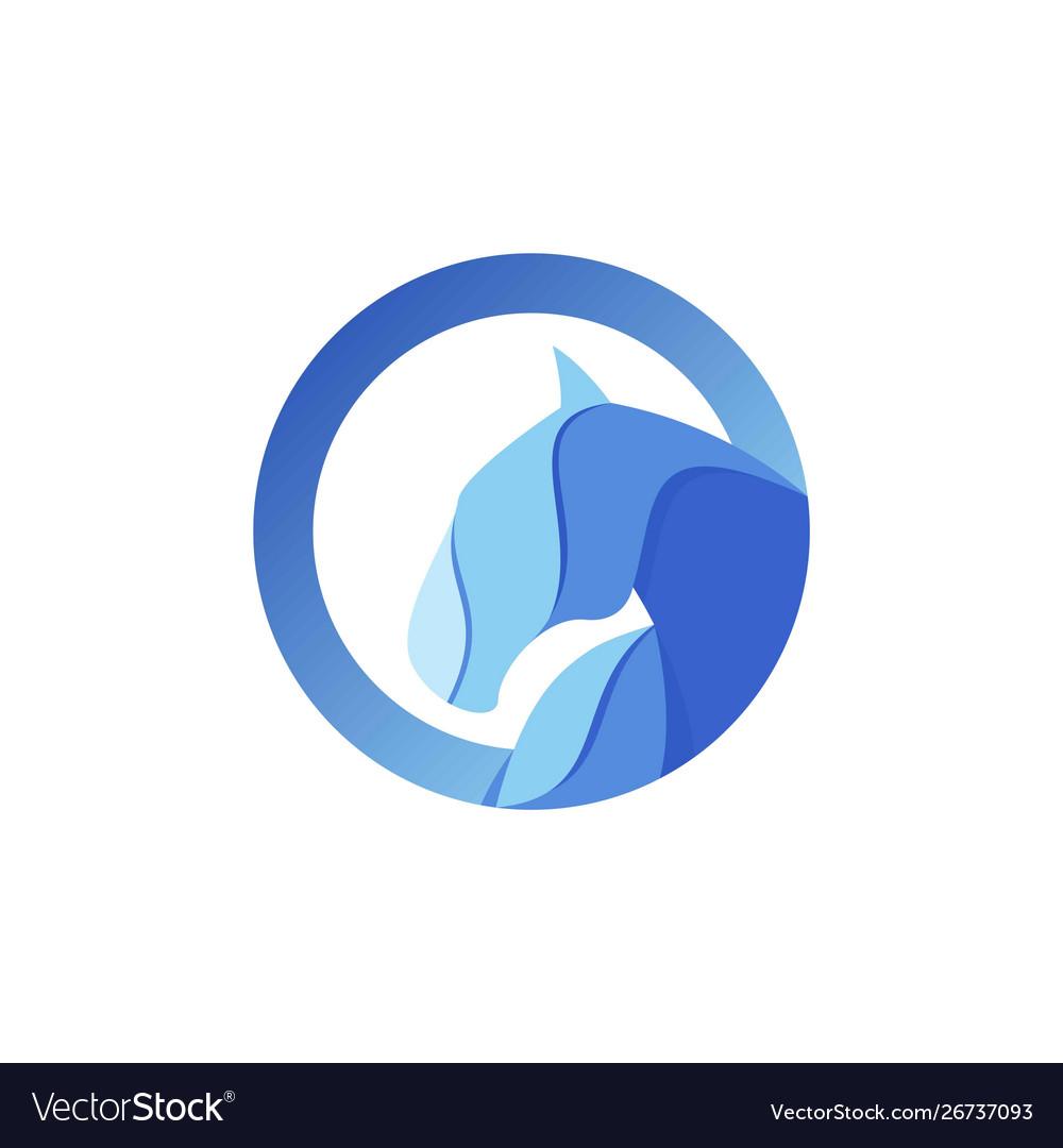 Abstract Horse Logo Royalty Free Vector Image Vectorstock
