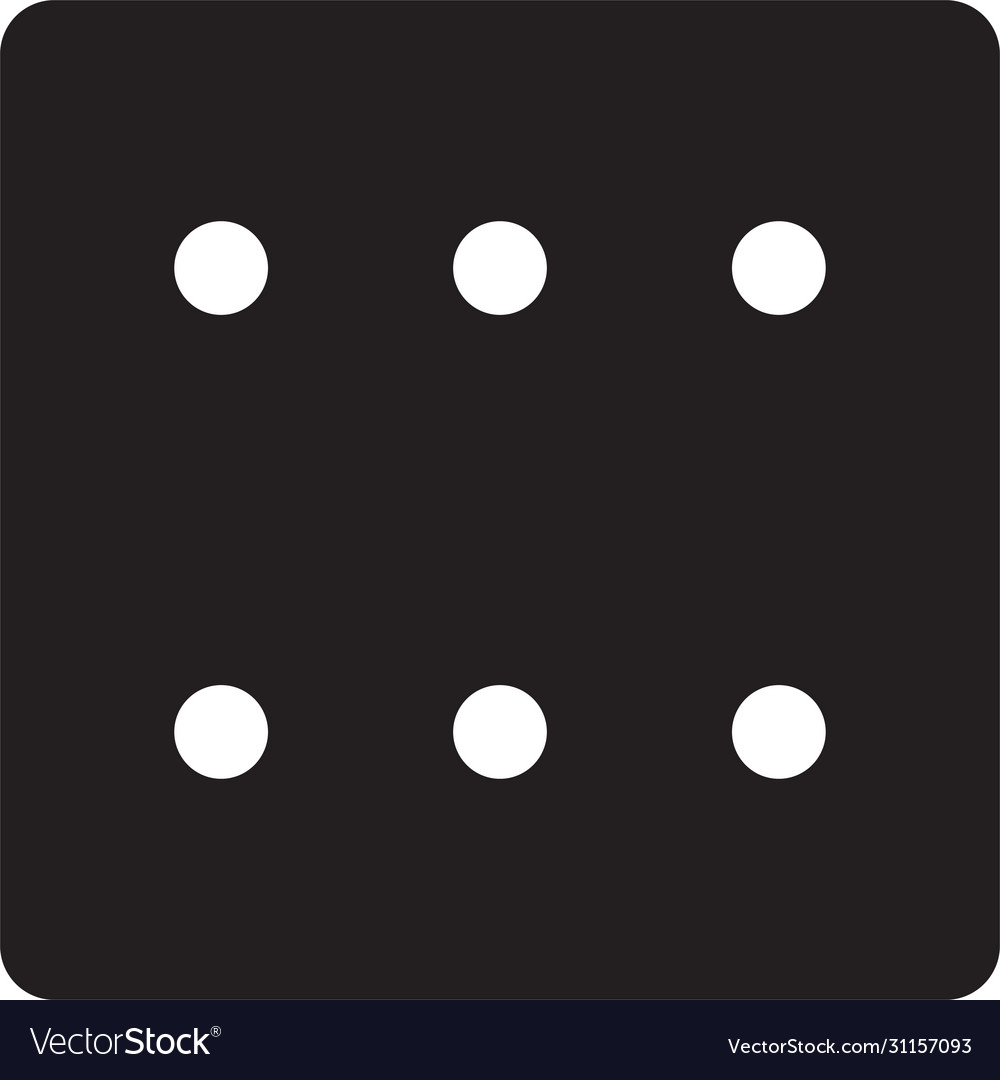 Black game dice icon isolated