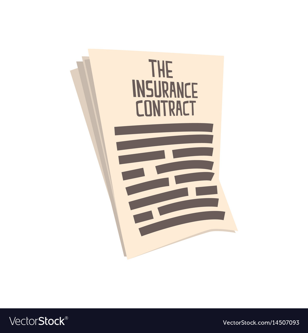 Car Insurance Contract Form Of Auto Insurance Vector Image