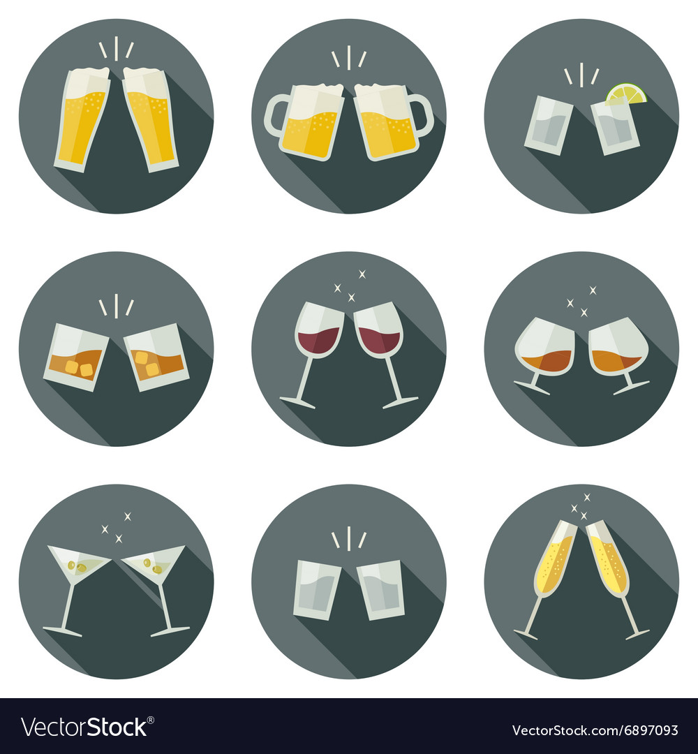 Clink glasses icons