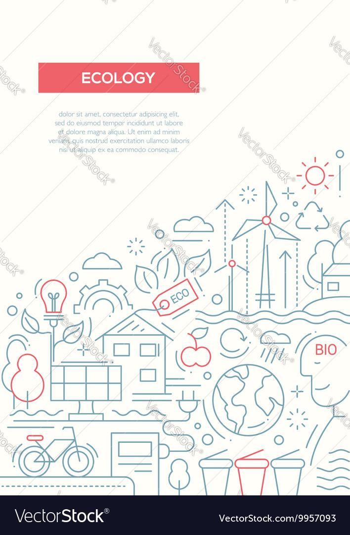 Ecology - line design brochure poster template A4