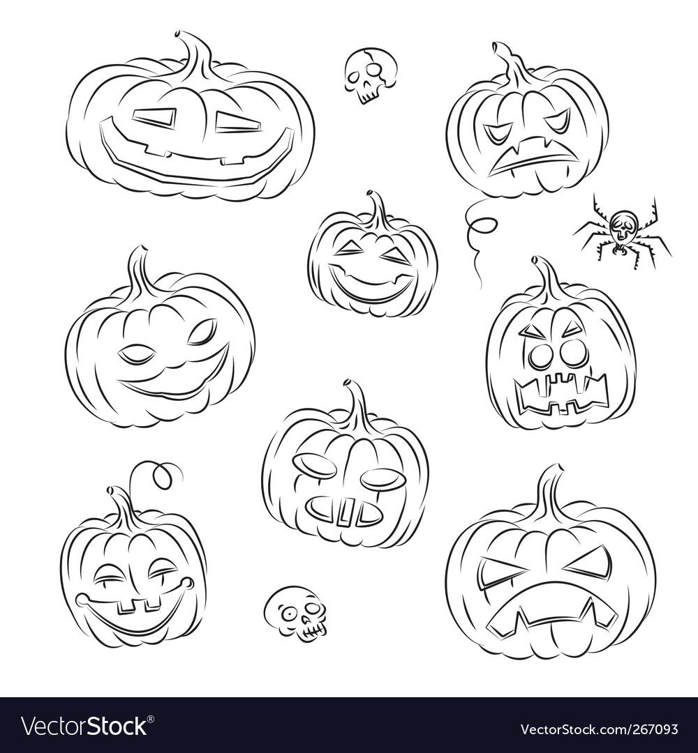 Pumpkins sketched