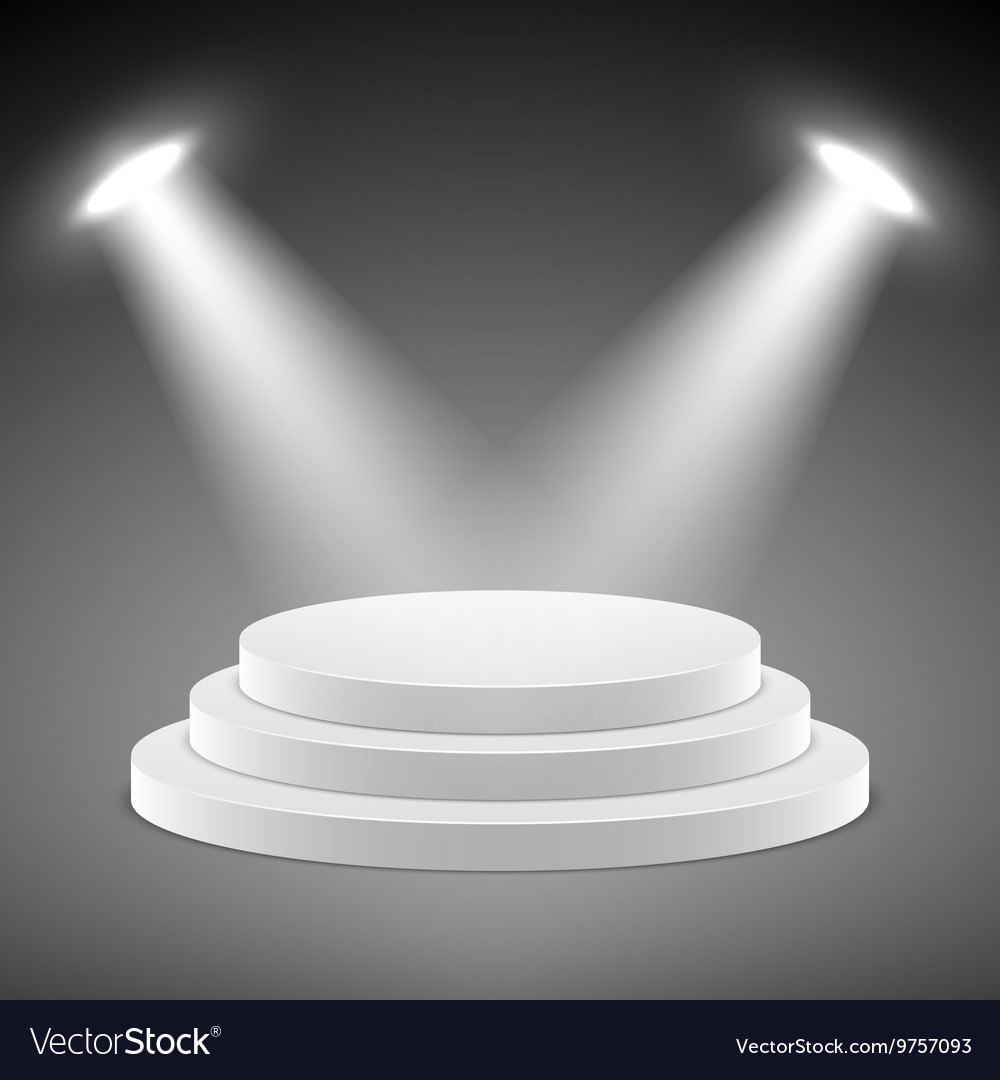 Realistic pedestal 3d empty podium with vector image