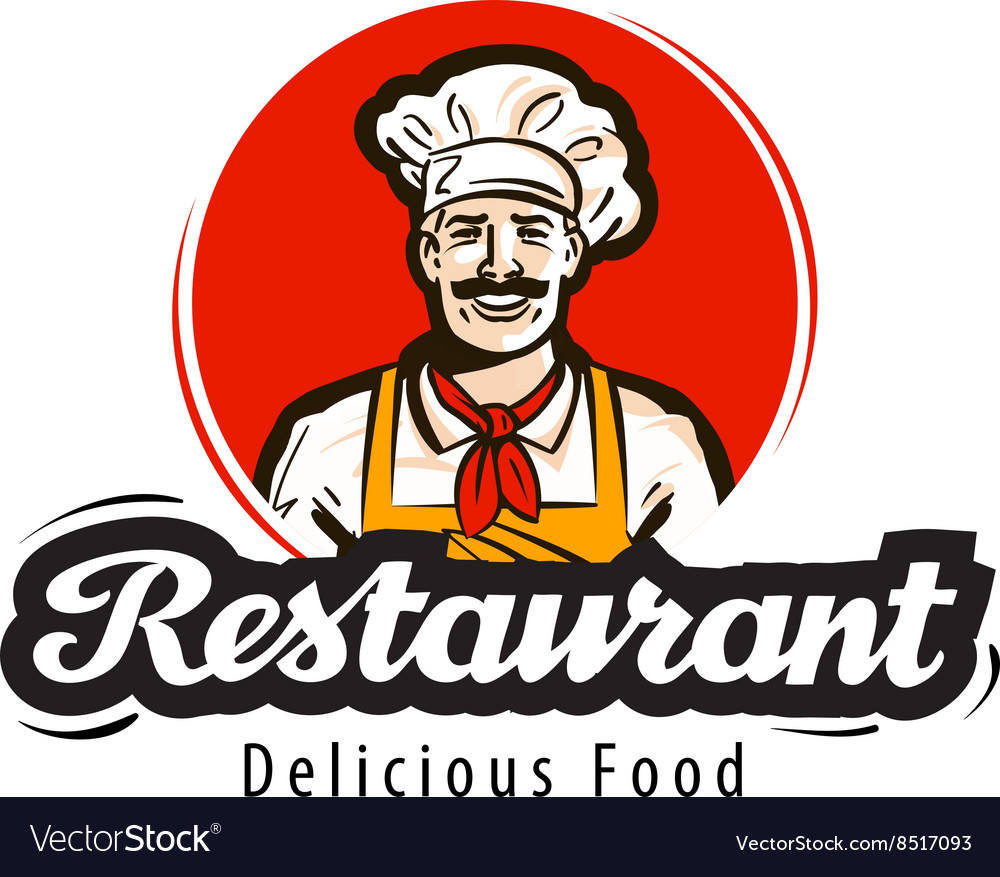 Restaurant logo diner cafe or cook chef