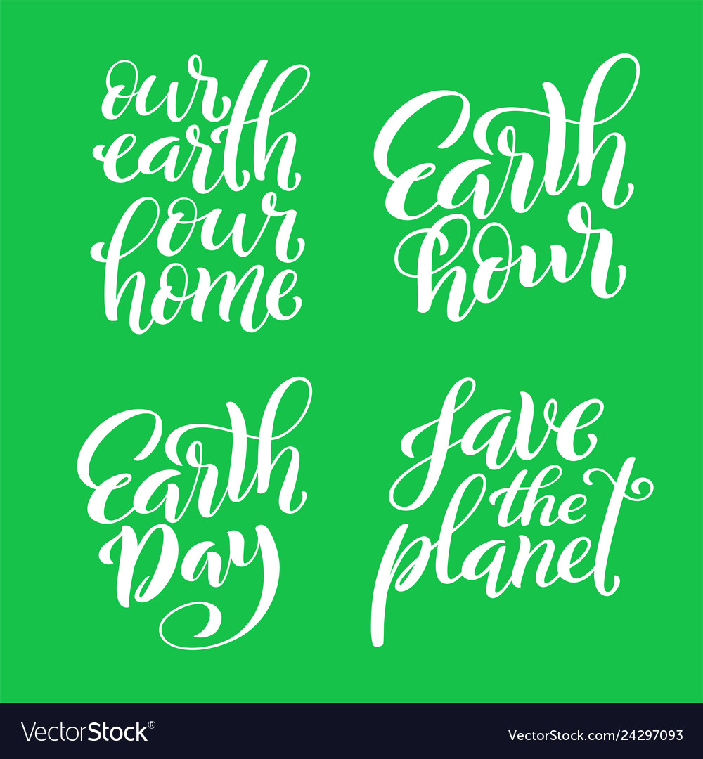 Set of quotes for earth day template for poster