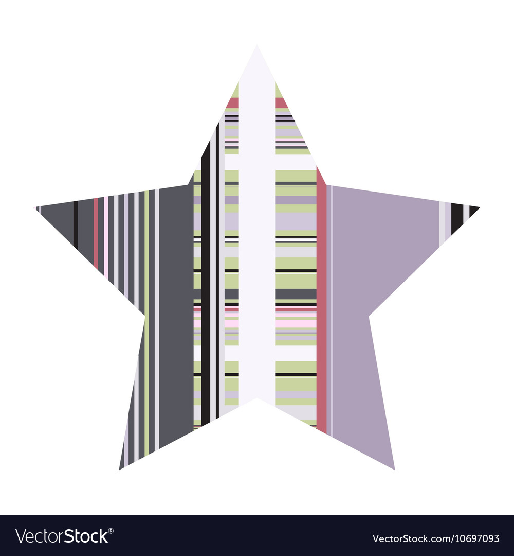 Striped Five Pointed Star Icon