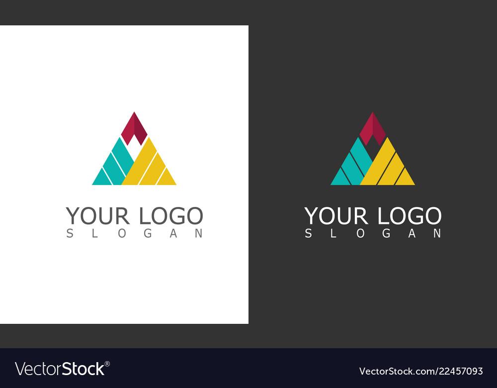 Triangle shape company logo