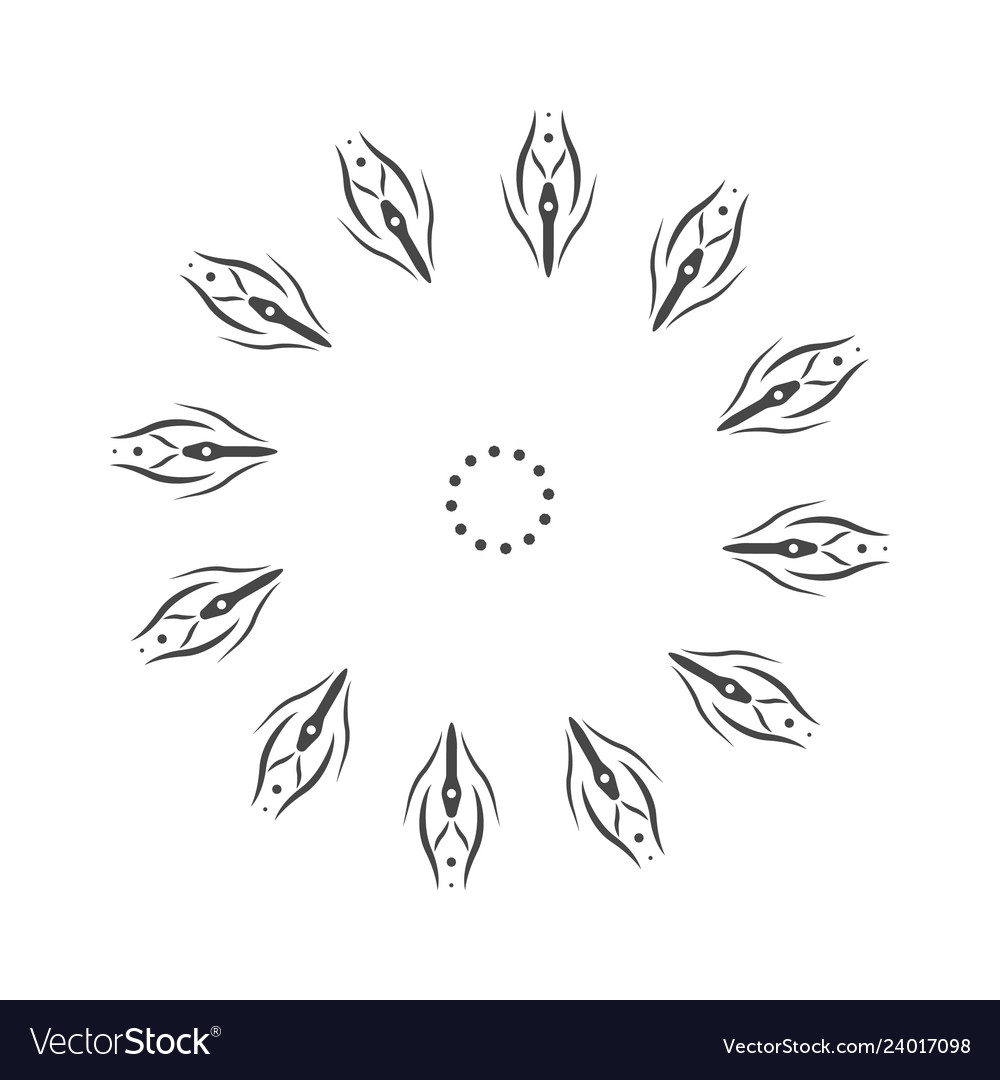 Abstract flower mandala decorative element for