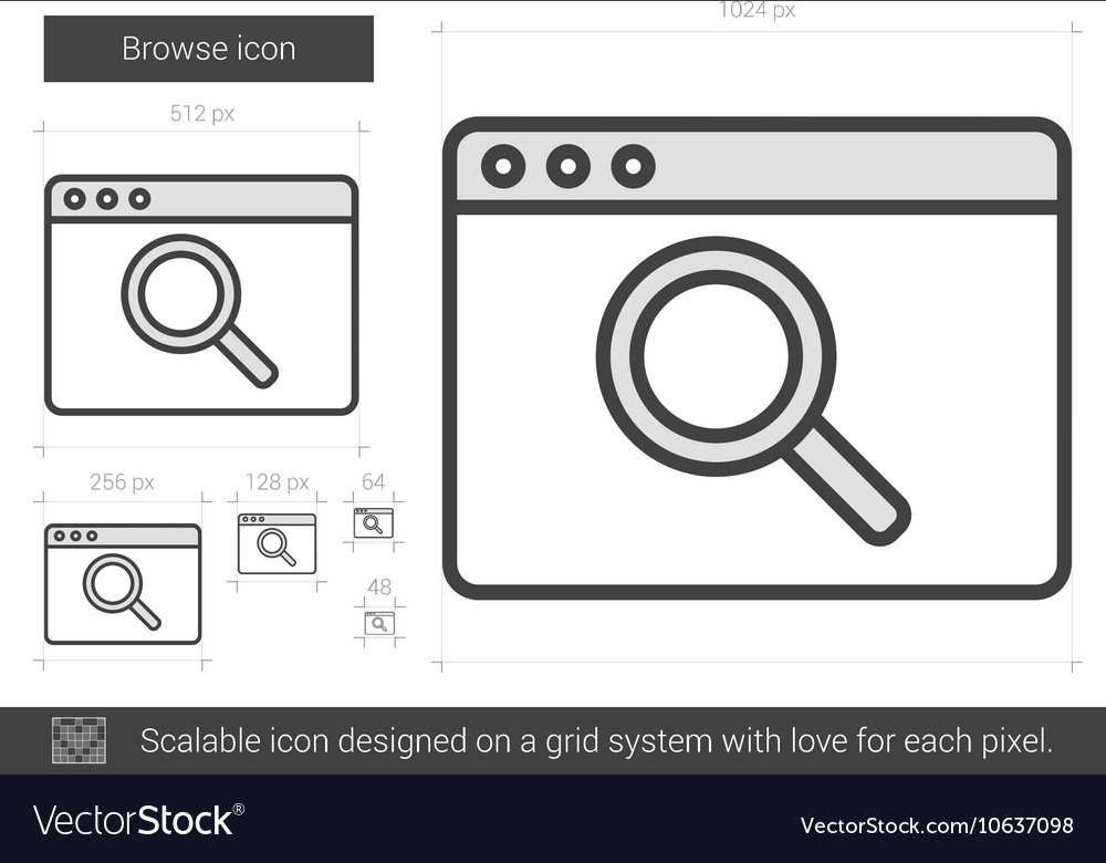 Browse line icon
