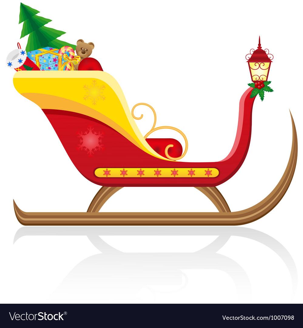 Christmas santa sleigh 01
