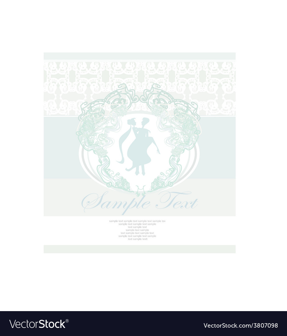 Elegant wedding invitation with wedding couple vector image stopboris Image collections