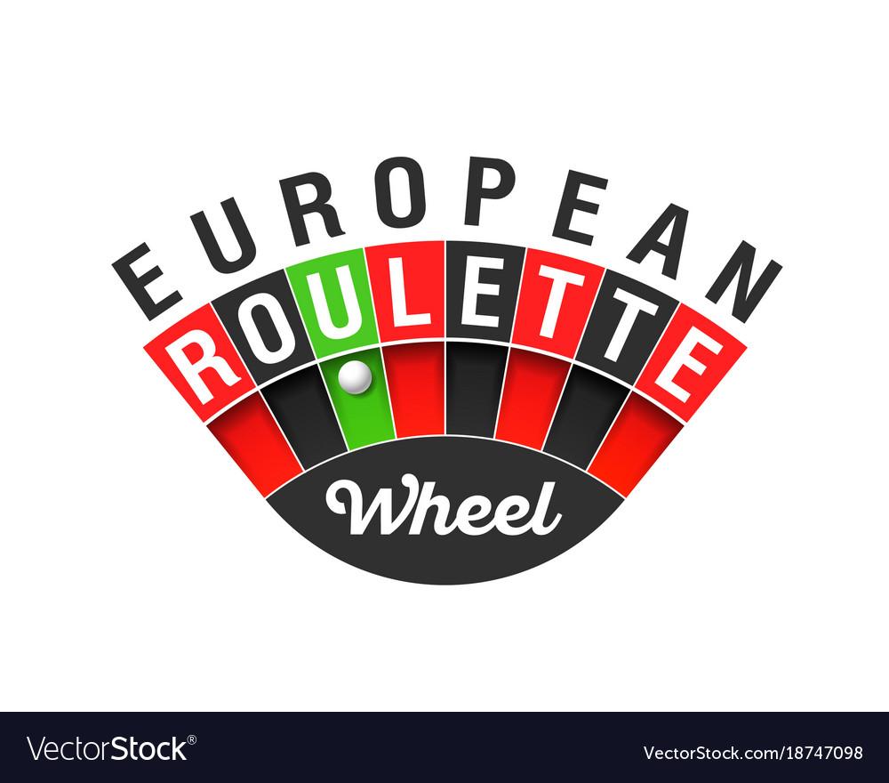 European roulette wheel sign vector image