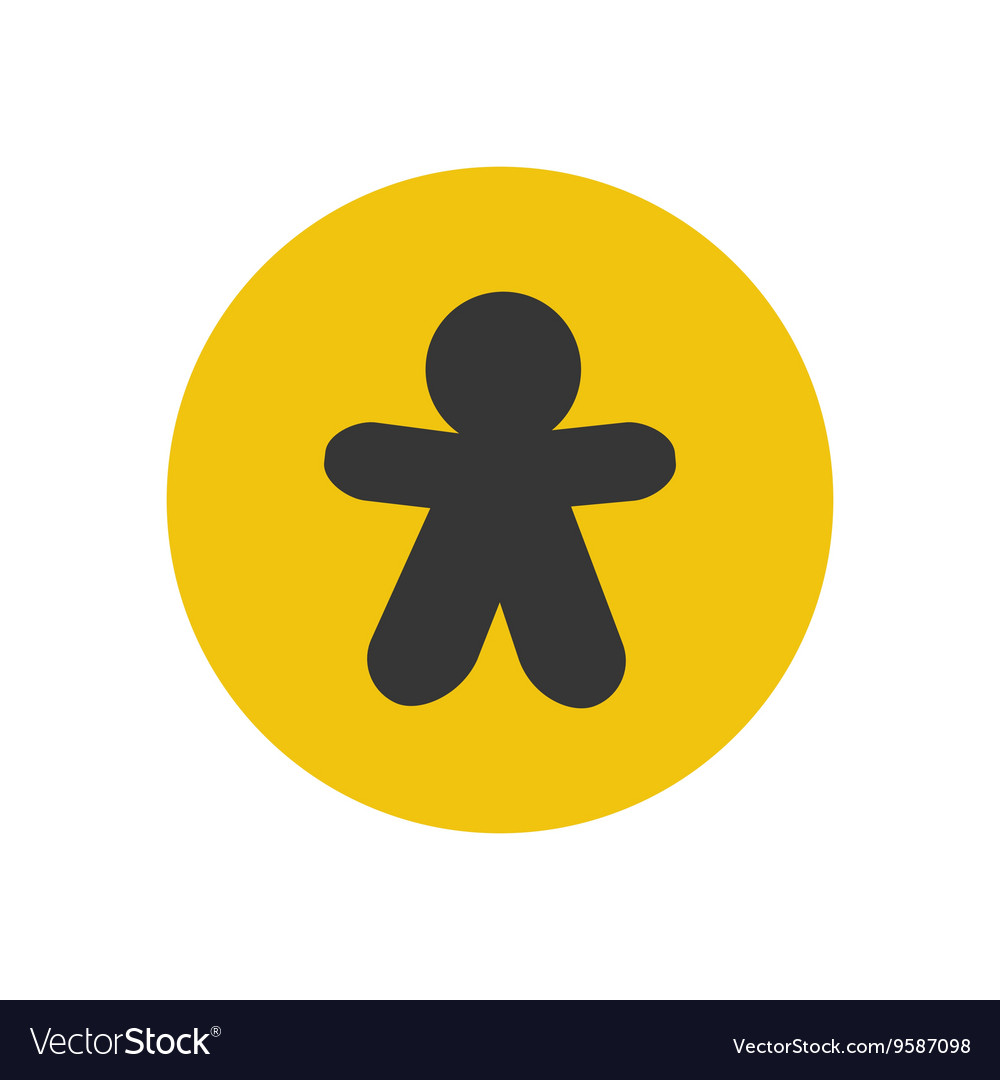 Gingerbread man silhouette