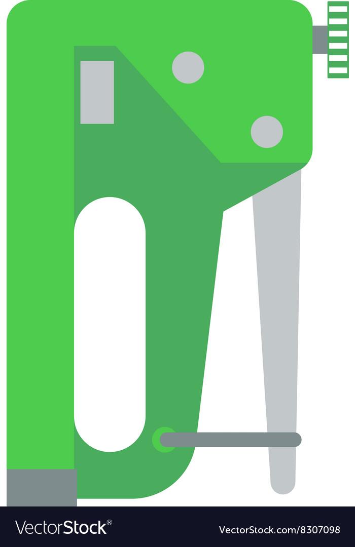Industrial stapler concept of home improvement vector image