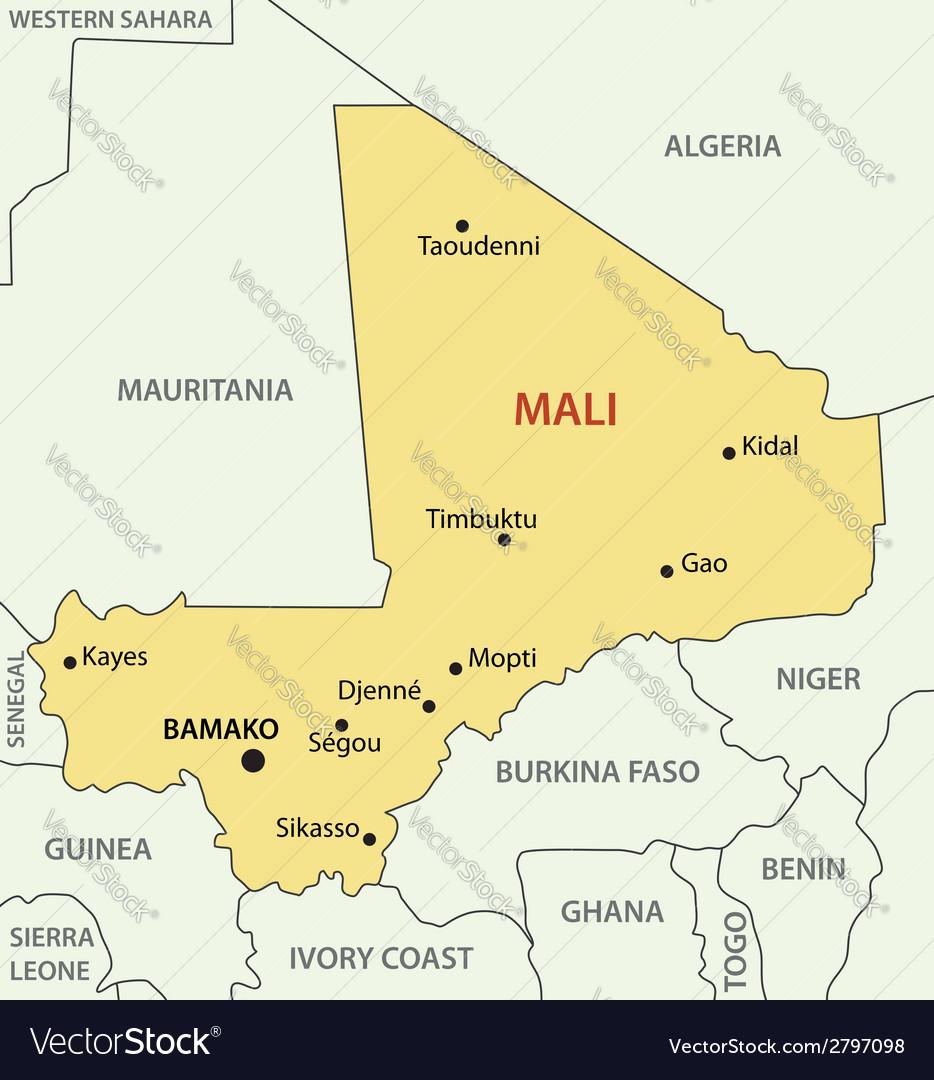 Republic of Mali - map