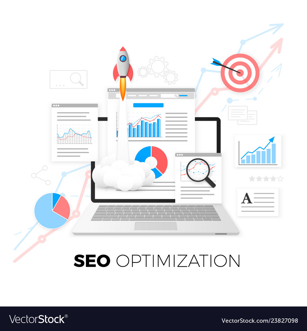 Seo optimization concept data analytics search