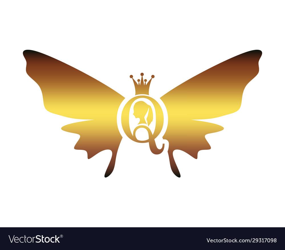 Vintage queen silhouette medieval queen profile
