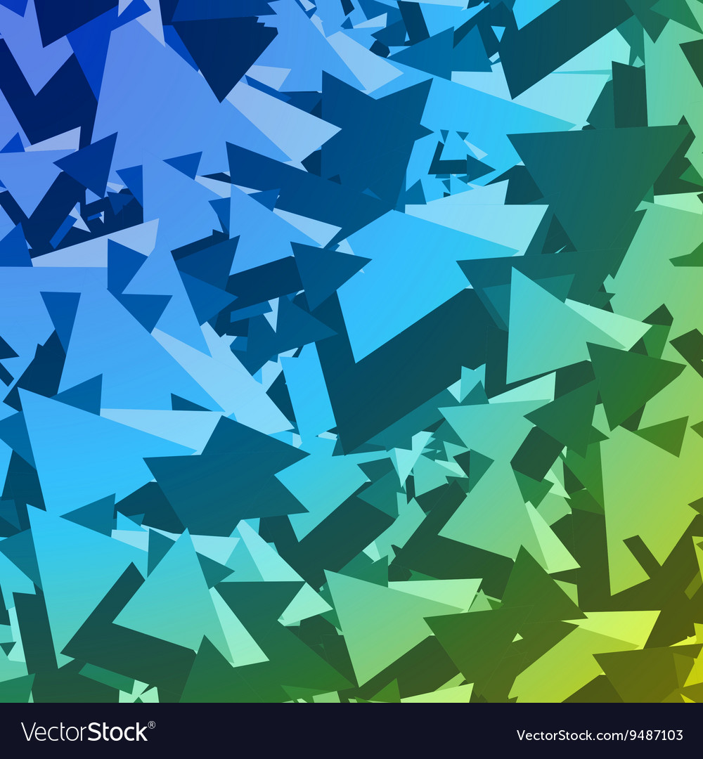 Abstract Geometric Pattern Triangles 2