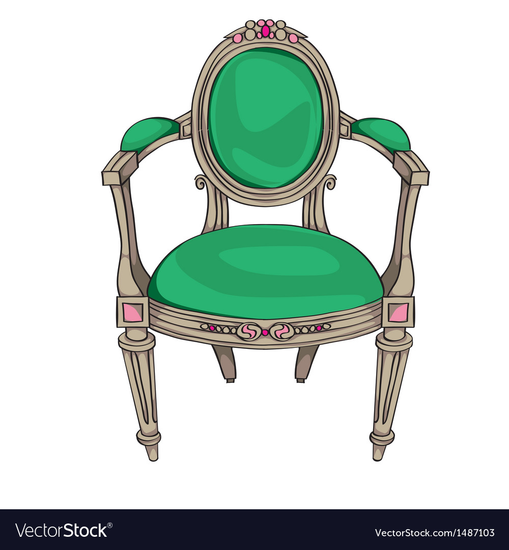 Classic chair vector image