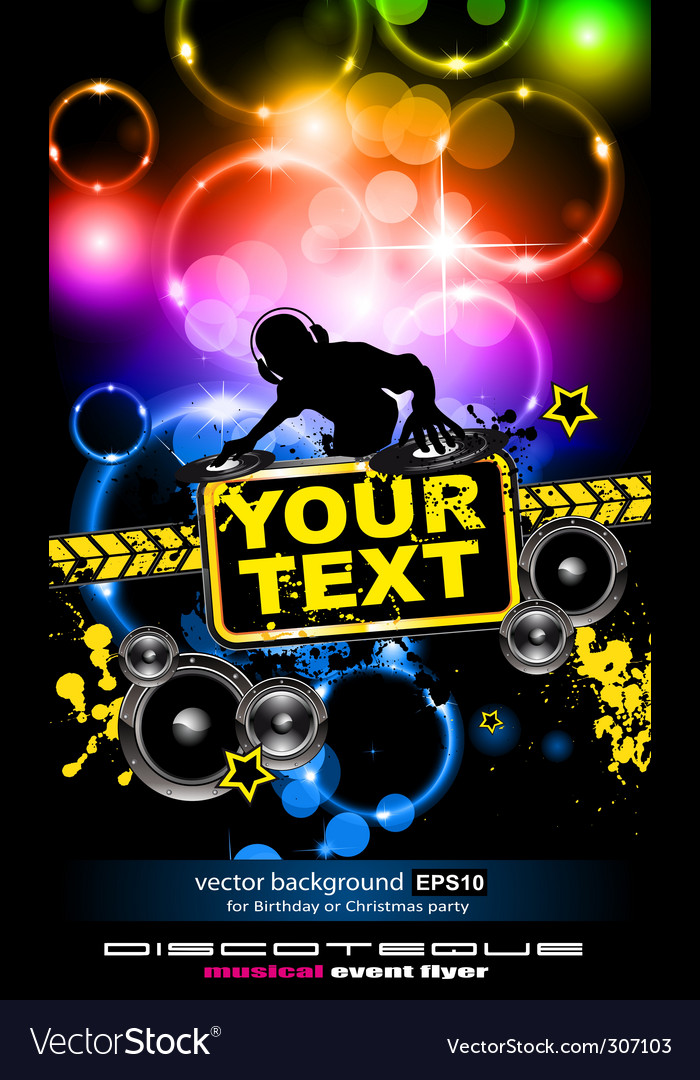 disco music flyer royalty free vector image vectorstock