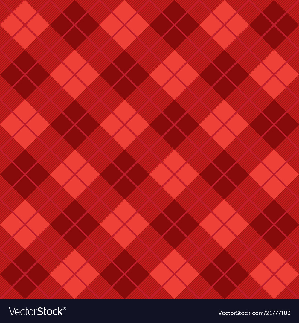 Red argyle harlequin seamless pattern