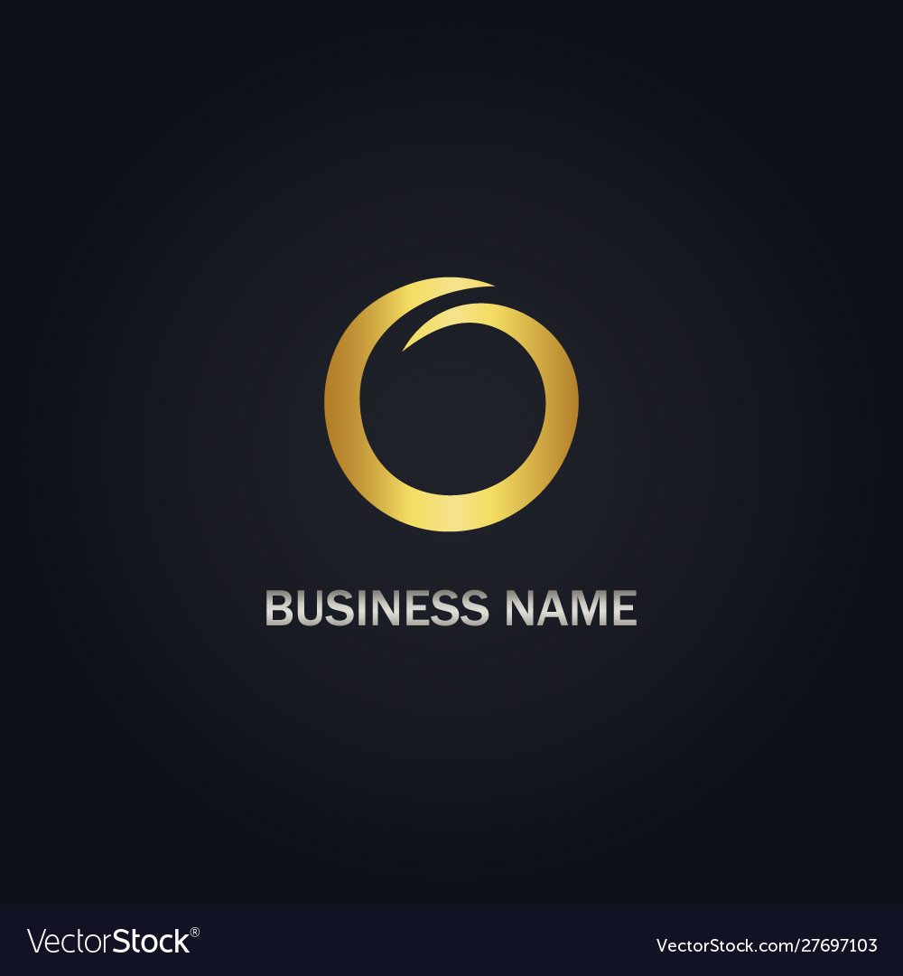 Round abstract gold logo