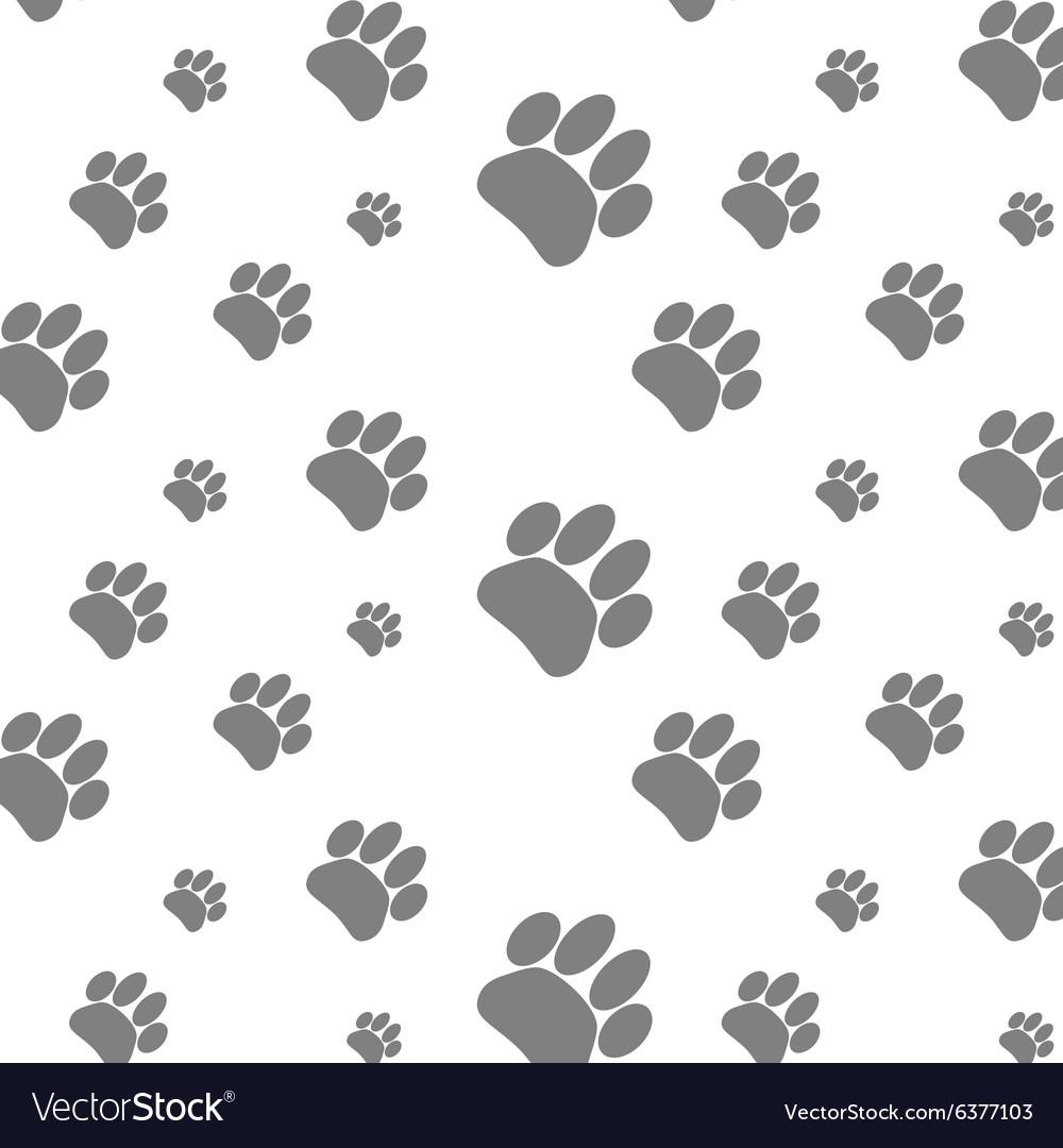 Seamless patter foot print dog