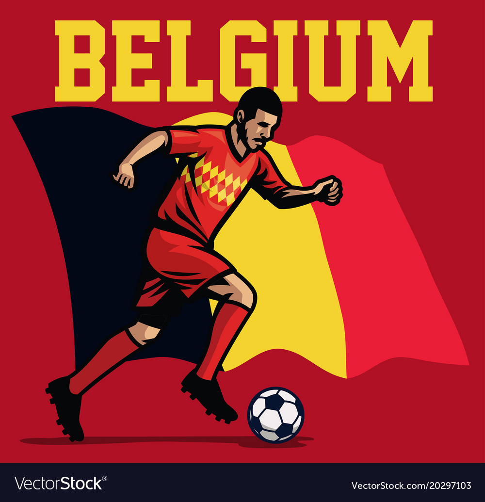 Soccer player of belgium vector image
