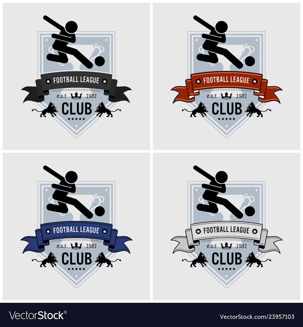 Soccer team club logo design artwork of football