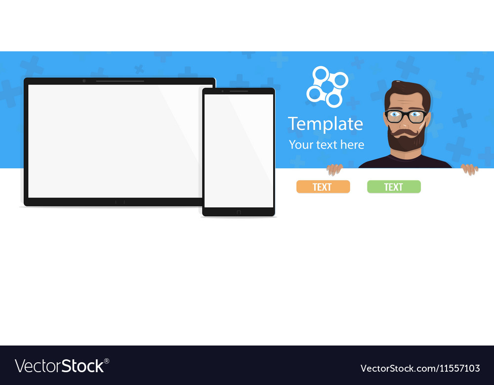 The template for a modern website with a beautiful