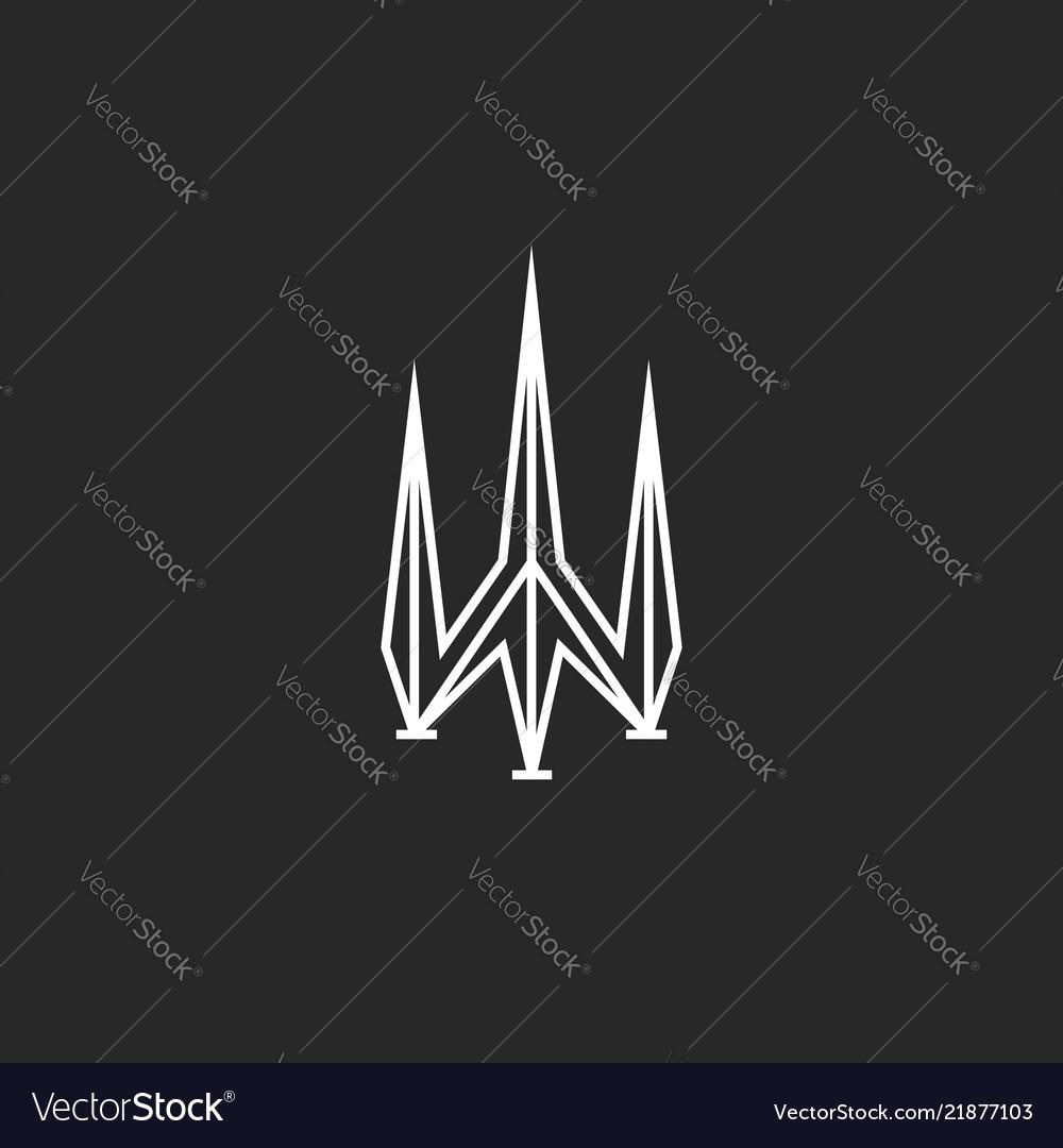 Trident logo design poseidon symbol sharp shape