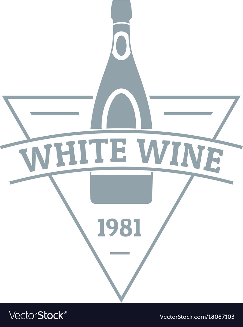 White wine logo simple gray style
