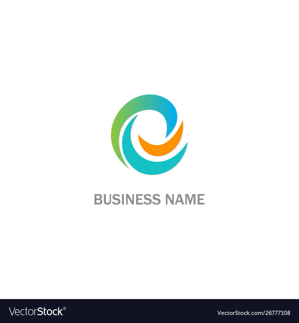 Abstract curve c initial company logo