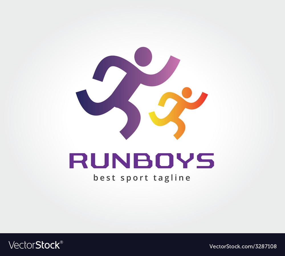 Abstract running people logo icon concept Logotype