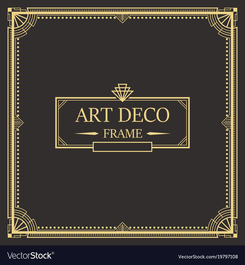 art deco border frame royalty free vector image rh vectorstock com art deco border tiles art deco borders free