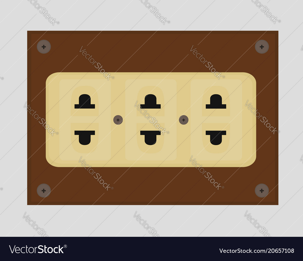 Beautiful electrical outlet background vector image