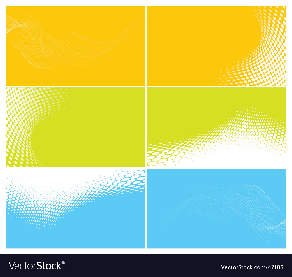 Business cards set vector image
