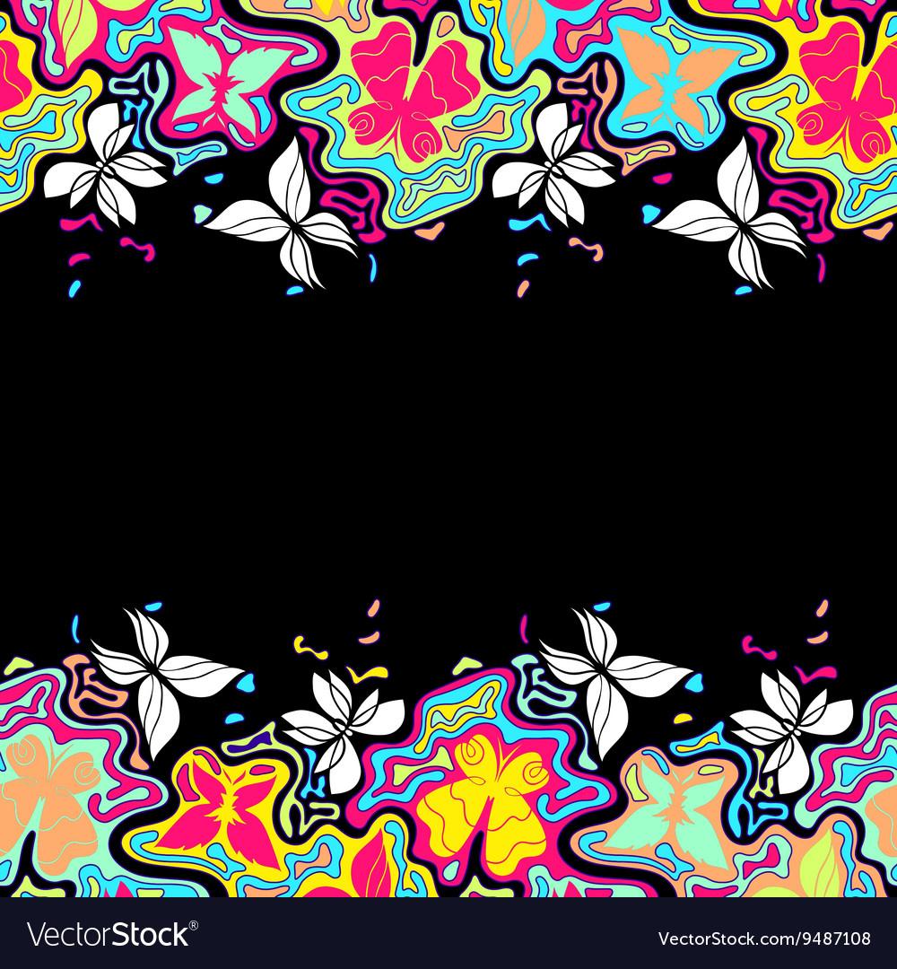 Butterflies Border Color 2
