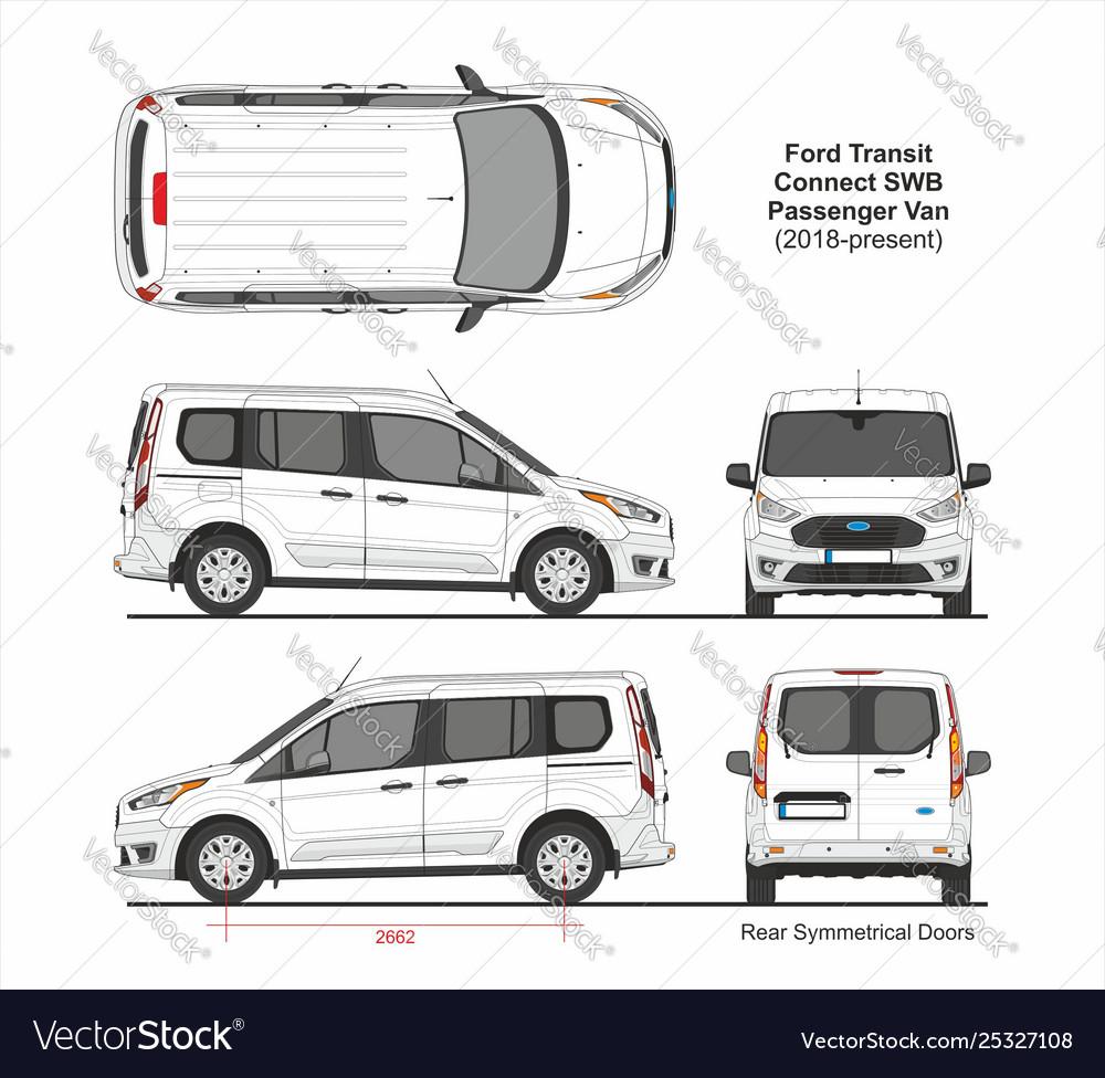 Ford Passenger Van >> Ford Transit Connect Swb Passenger Van 2018