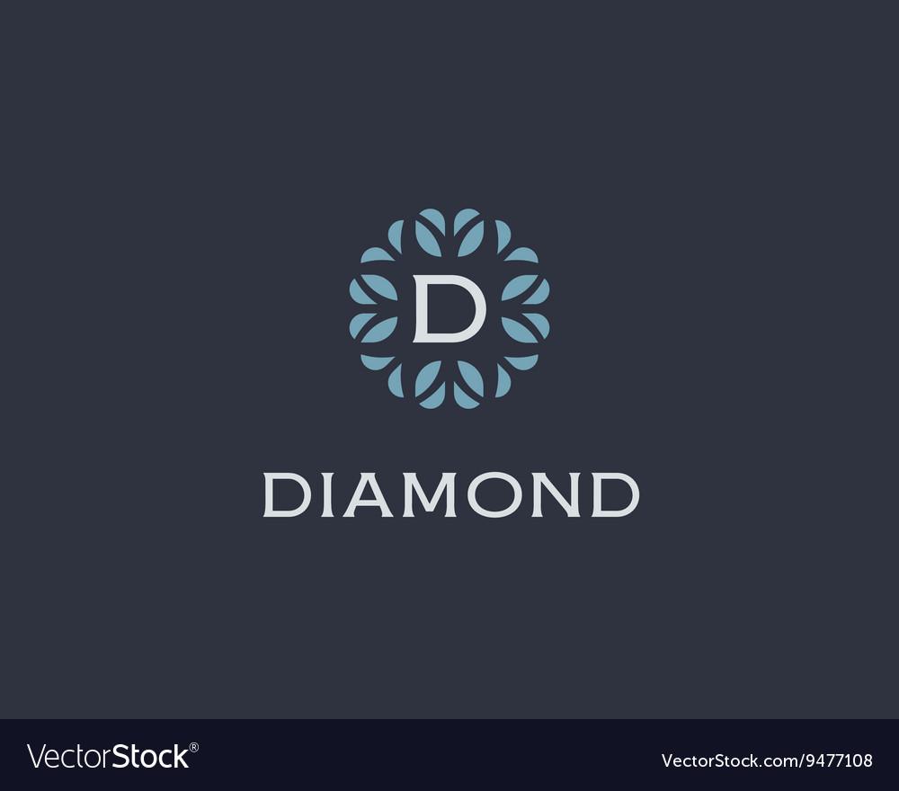 Premium monogram letter D initials logo Universal vector image