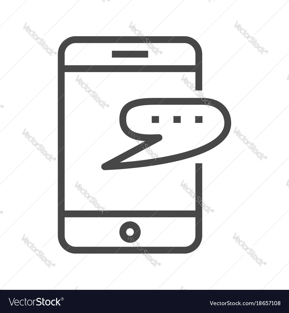 Smartphone with speech bubble