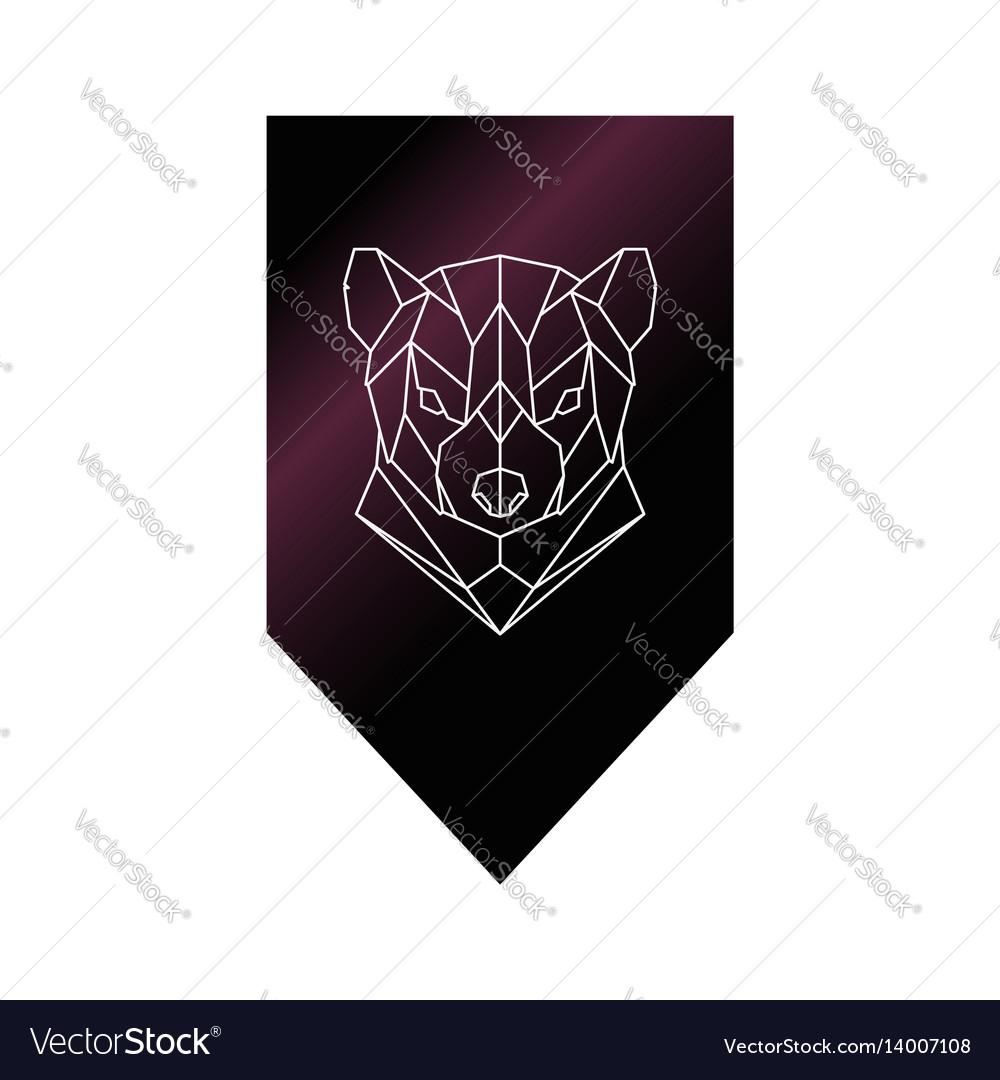 Tasmanian devil polygonal head sign