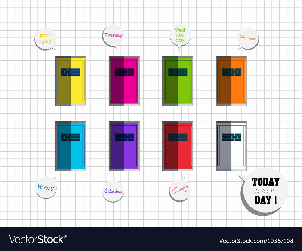 Today Is Your Day Quote With Colorful Window Vector Image
