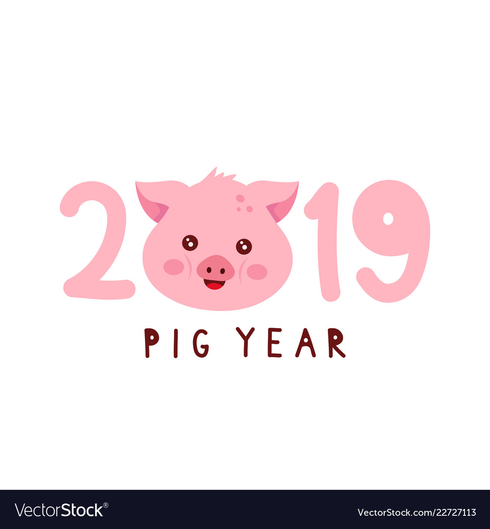 2019 with cute smiling happy