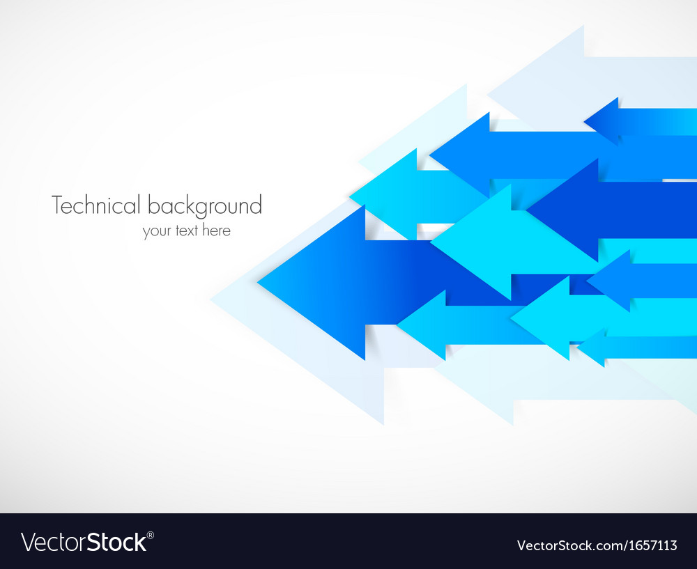 Abstract background with blue arrows