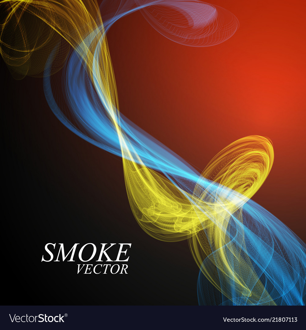 Abstract smoke isolated on blue background