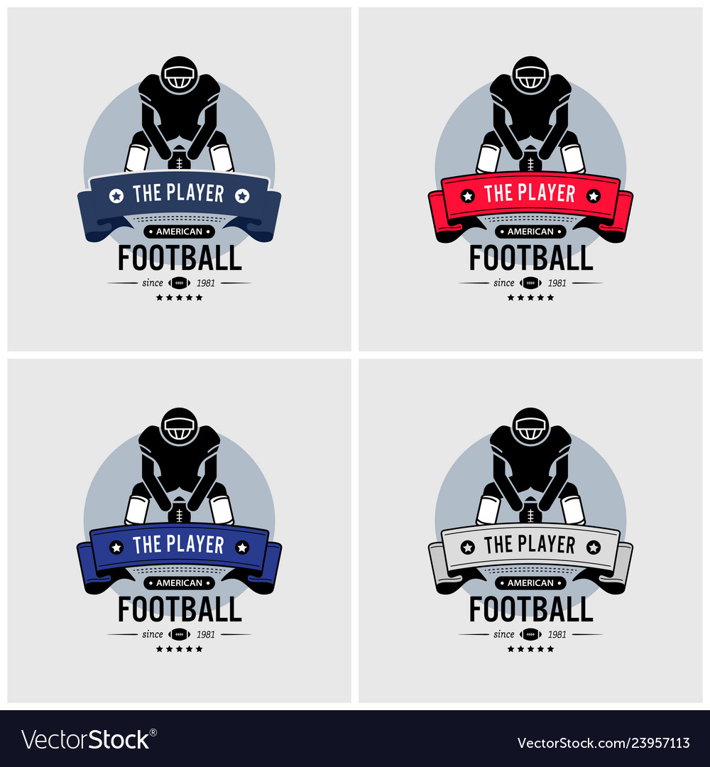 American football club logo design artwork of