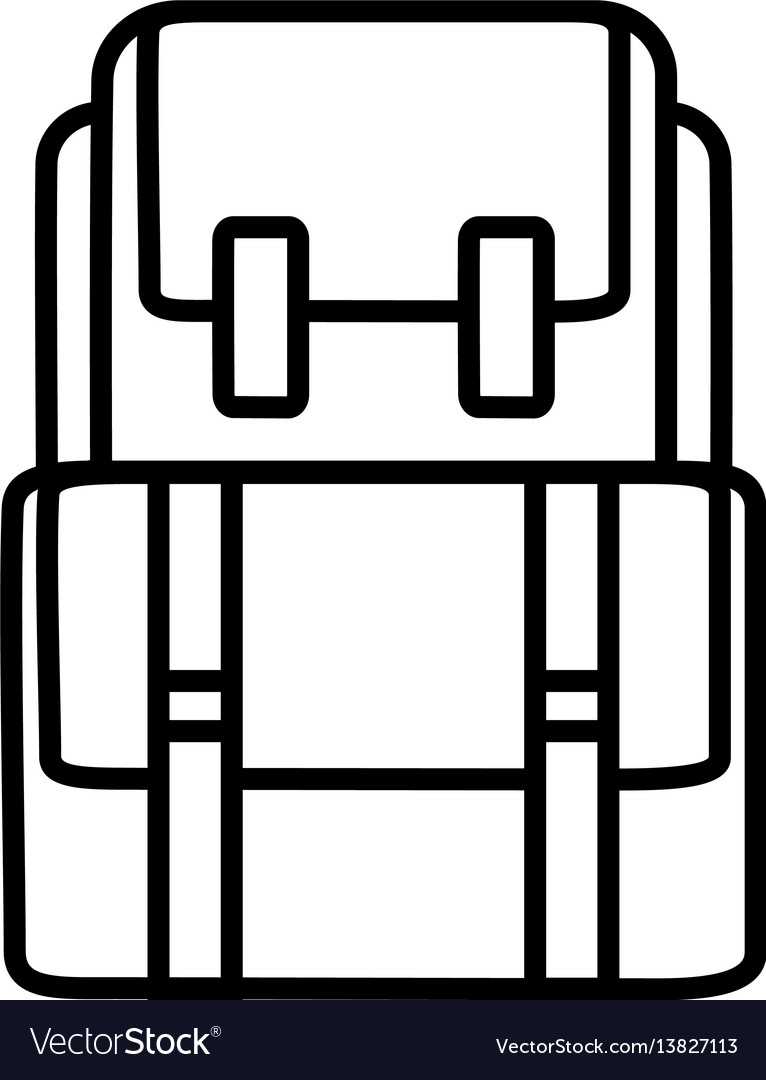 Backback outline icon